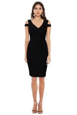 Karen Millen - Black Knit Dress - Front