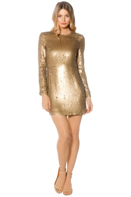 Diane von Furstenberg - Pauletta Sequin Dress - Front - Gold