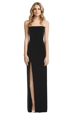 Elizabeth and James - Seiler Strapless Stretch Cady Maxi Dress - Black - Front