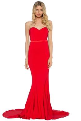 Elle Zeitoune - Arianna Gown - Red - Front