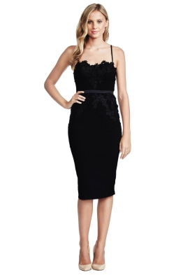 Elle Zeitoune - Black Madeline Dress - Front