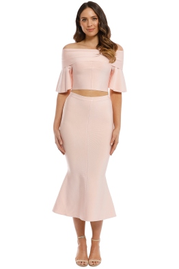 Elliatt - Audrey Top and Skirt Set - Blush - Front