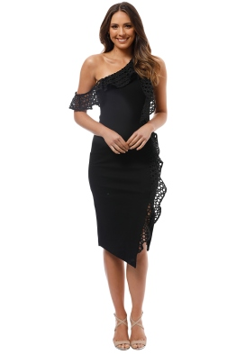 Elliatt - Crystal Dress - Black - Front