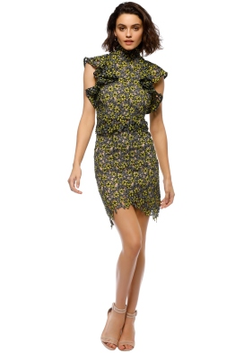 Elliatt - Eden Top and Skirt Set - Yellow Black - Front