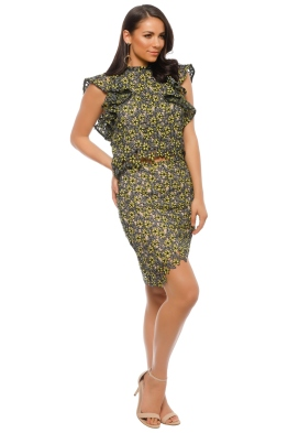 Elliatt - Eden Top and Skirt Set - Yellow Floral - Front