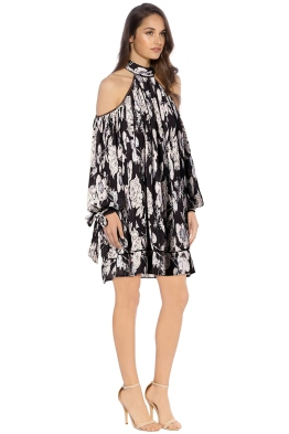 Elliatt - Impressionist Trapeze Dress - Floral Print - Side
