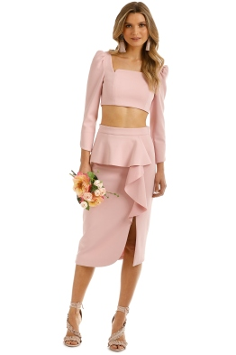 Elliatt - Phoebe Top and Skirt Set - Pink - Front