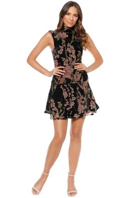 Elliatt - Salon Dress - Black Floral - Front