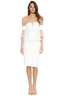 Elliatt - Sisley Dress - White - Front