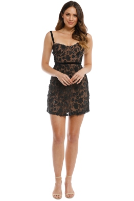 For Love and Lemons - Beatrice Mini Dress - Black Nude - Front