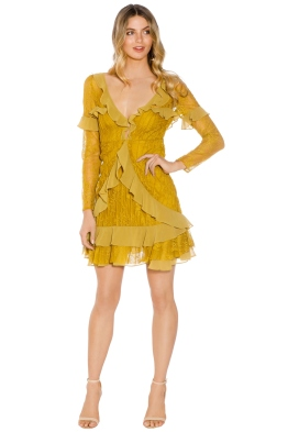 For Love and Lemons - Daphne Mini Dress - Yellow - Front