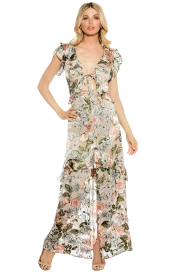 For Love and Lemons - Luciana Maxi Dress - Cream Floral - Front