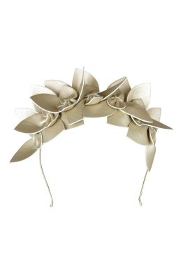 Morgan and Taylor - Adele Fascinator - Gold - Front