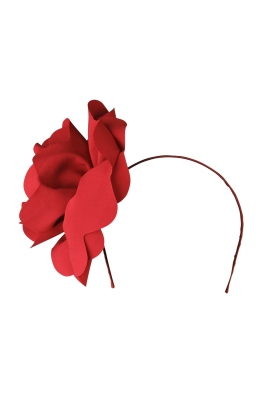 Morgan and Taylor - Amy Fascinator - Red - Front
