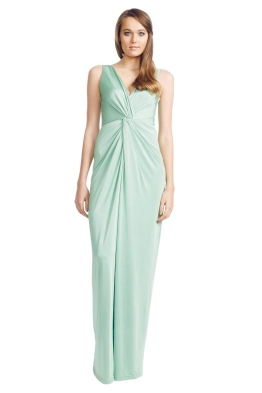 George - Apple Carulli Gown - Front - Green