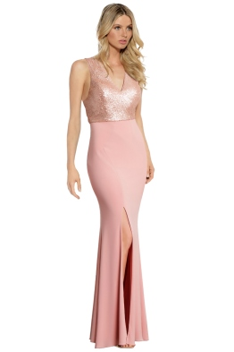 George - Jaqueline Gown - Blush - Front