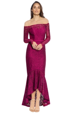 George - Sofia Mermaid Hem - Wine - Front