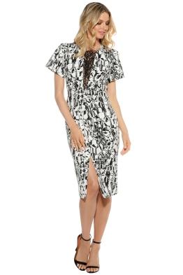 Ginger & Smart - Black Marble Dress - Front