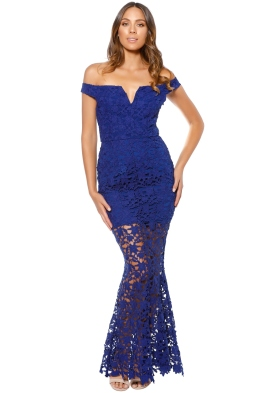 Grace and Hart- Heart beat Gown - Royale - Front