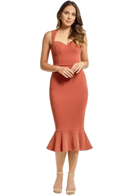 Grace and Hart - Aviary Midi Dress - Copper - Front
