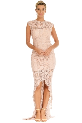 Grace and Hart - Mystic Lace Hi-Lo Dress - Blush - Front