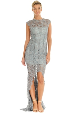 Grace and Hart - Mystic Lace Hi-Lo Dress - Grey - Front