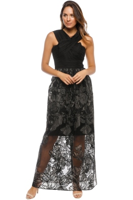 Grace and Hart - Summer Glow Ball Gown - Black - Front