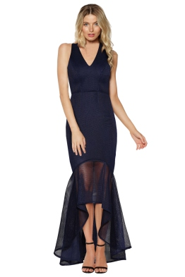 Grace & Hart - Cherry on Top Gown - Navy - Front