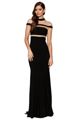 Grace & Hart - Muse Gown - Black - Front