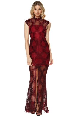 Grace & Hart - Queen Bee Gown - Wine - Front