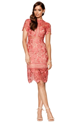 Grace & Hart - Serene Fitted Midi - Rose - Front