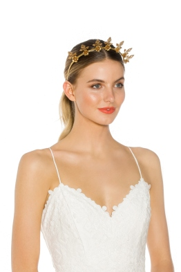 Heather McDowall - Valerie Fascinator - Gold - Side Model