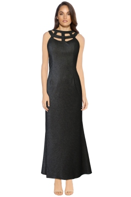J'adore - Jackie Dress Platinum - Black Metallic - Front
