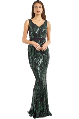 Jadore - J9027 - Aria Gown - Forest - Front
