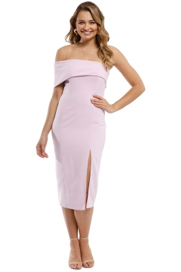 69d8b67779069 Jay Godfrey - Surrey Midi Dress - Lilac - Front
