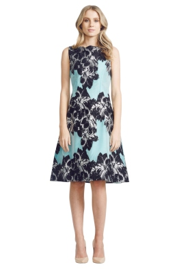 Jayson Brunsdon - Trapeze Dress - Front - Green