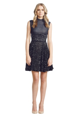 Jayson Brunsdon - Waltz Dress - Front - Black - christmas work function