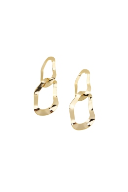 Jolie and Deen - Amanda Earrings - Gold - Ghost Front