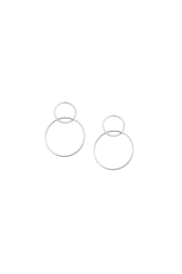 Jolie and Deen - Dale Earrings - Silver - Ghost Front