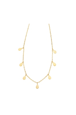Jolie and Deen - Teardrop Necklace - Gold - Ghost Front