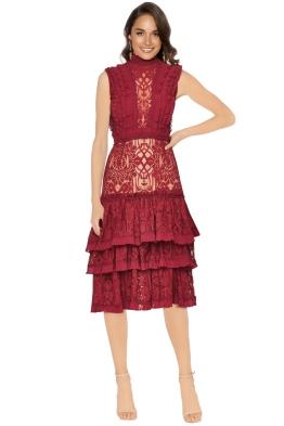 Jonathan Simkhai - Tower Lace Ruffle Dress - Front