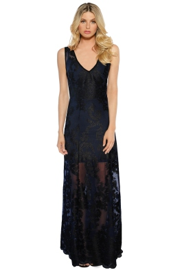 Kate Sylvester - Iris Maxi Dress - Navy - Front