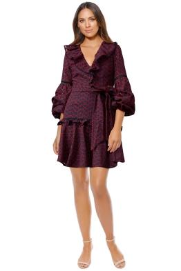 Keepsake - Blossom Long Sleeve Mini Dress - Navy - Front