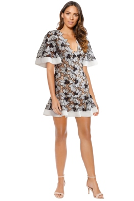 Keepsake the Label - Break Free Lace Mini Dress - Ivory - Front