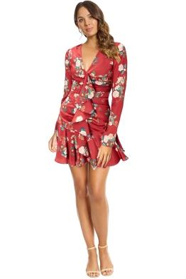 Keepsake - For Me LS Dress - Magenta Floral Red - Front