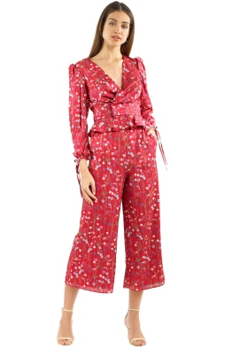 Keepsake - Hold Back Top and Pant Set - Scarlet Floral - Front