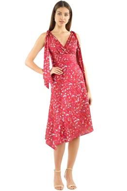 Keepsake The Label   Hold Back Dress   Scarlet Floral   Front