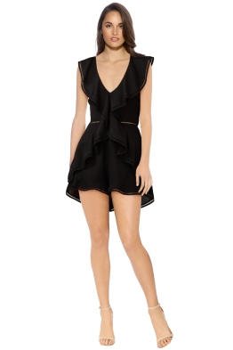 Keepsake The Label - Lovers Holiday Playsuit - Black - Front
