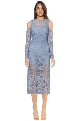 Keepsake - Reach Out LS Midi Dress Steel - Front - Blue