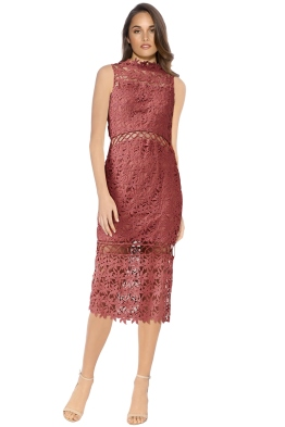 Keepsake - Stay Close Lace Dress - Paprika - Front